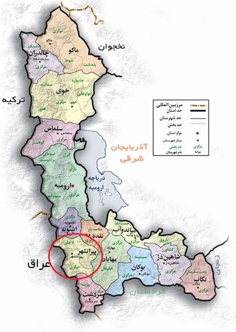 نقشه پیرانشهر