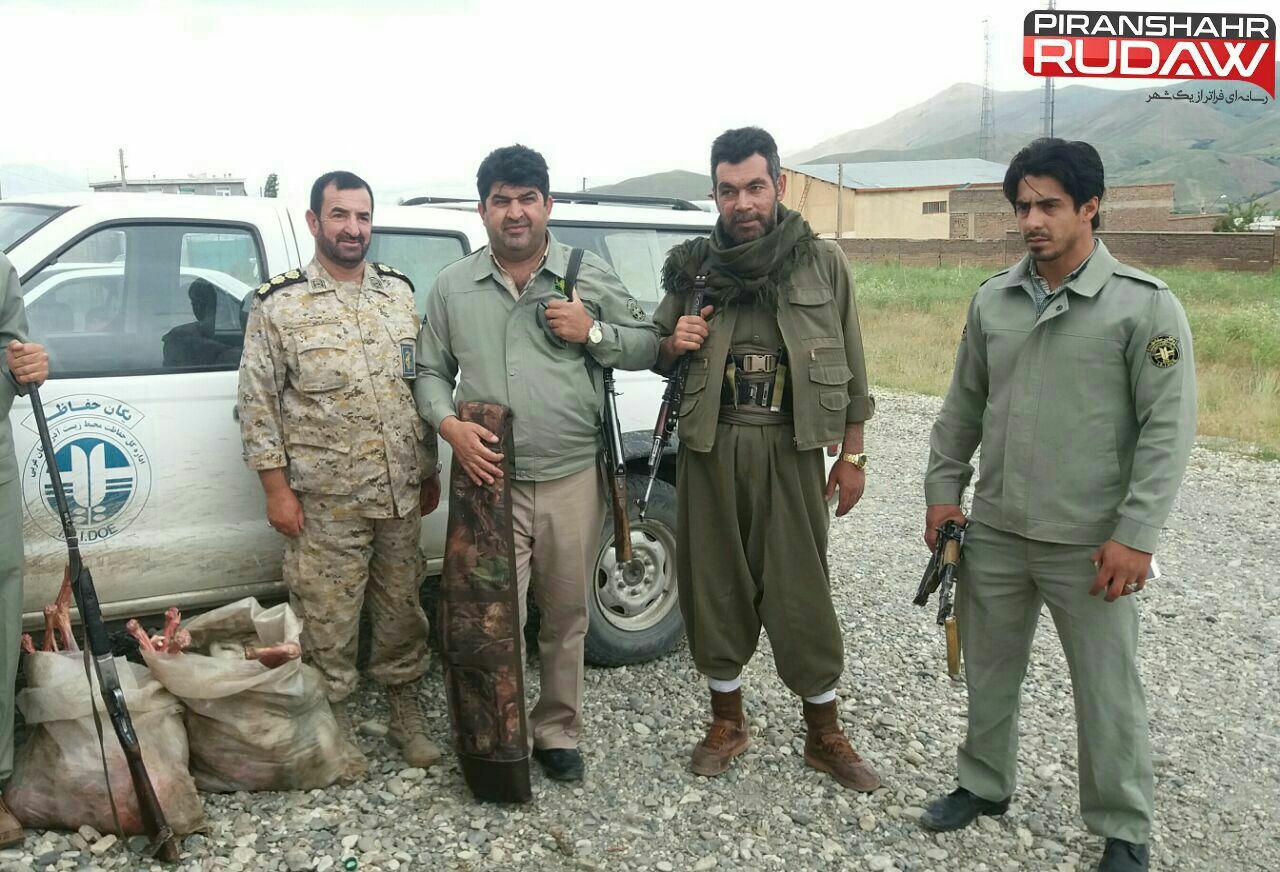 دستگیری ۲ شکارچی کَل و بُز در ارتفاعات پیرانشهر
