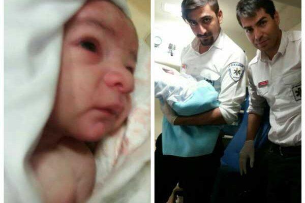 تولد نوزاد عجول در آمبولانس اورژانس پیرانشهر