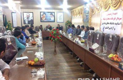 دیدار اساتید دانشگاه با سردار شکوری فرمانده سپاه پیرانشهر