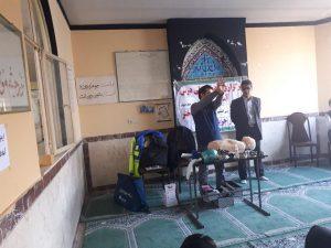 آموزش کمک های اولیه به دانش آموزان توسط مرکز فوریت های پزشکی پیرانشهر