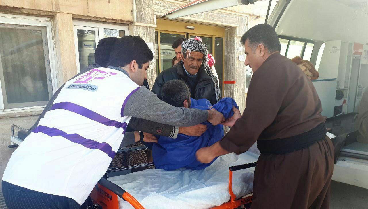 معلول شین آبادی بعد از 15 سال درد و رنج راهی بیمارستان شد