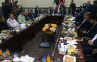 نشست هیات ایرانی و اقلیم کردستان در خصوص افزایش و تسهیل مبادلات در شهر چومان انجام گرفت
