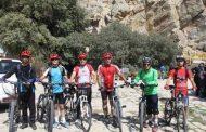 دوچرخه سواران مهابادی روز ملی «غار پاک» را گرامی داشتند